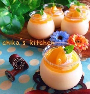 超絶簡単♪生クリ&砂糖ナシ♪カルピス風味の桃ムース♥︎