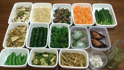 2016/5/22常備菜(実家の野菜を使って / 実山椒の塩漬け完成)