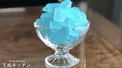 レンジで作ると簡単!食べられる宝石キラキラ琥珀糖の作り方!