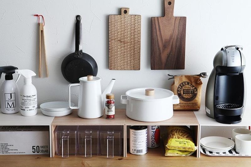 思い思いに増やせる「プラスラック」で自分仕様のキッチン収納に!