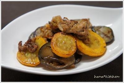 ズッキーニのレシピ *ズッキーニと茄子の味噌バター炒め*
