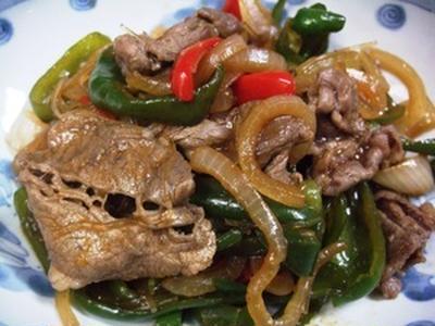 牛肉と玉ねぎの韓国風