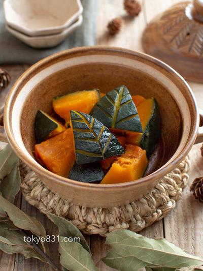 かぼちゃの煮物。土鍋でほっくり甘い♪副菜、子どものおやつにも。【農家のレシピ帳】