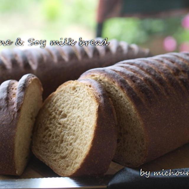 プルーンピュレと豆乳のパン