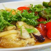 お酢でさっぱり☆スパイス効かせて☆夏野菜の甘酢浸し。そして今日の私。。
