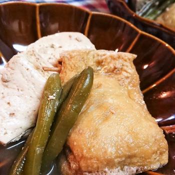 【レシピ動画】レンチンde簡単!【玉子巾着と豆腐の煮物】ほっとけば出来るって、最高じゃなーい?