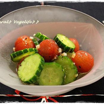 【Line公式】今週のレシピ『プチトマトときゅうりのイタリアンマリネ』をお届けします♪