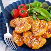ささ身せんべいの甘酢ごま照り焼き【#作り置き #お弁当 #揚げない #主菜 #和風】