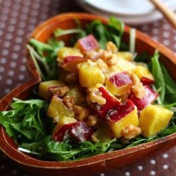 さつま芋と胡桃のサラダ