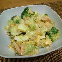 野菜のうまみドレッシング「かぼちゃ」で♪ ☆鮭と季節野菜のコク旨サラダ☆