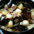 忙しかった日の、豚肩ロースブロック肉と大根の煮物と簡単スープ