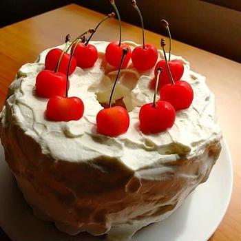 シフォンケーキでお祝い!