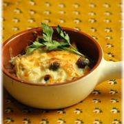 ガーリックきのこのチーズ焼き。 と 献立。