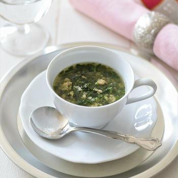 【エジプト料理】王様のスープ♡クレオパトラも愛飲!?モロヘイヤと鶏ひき肉の薬膳スープ♪