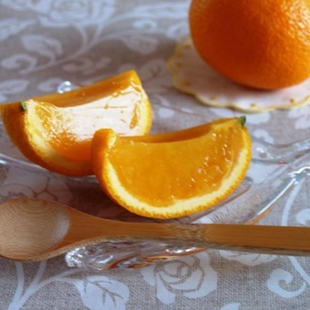 寒天を使ったオレンジゼリーのレシピ