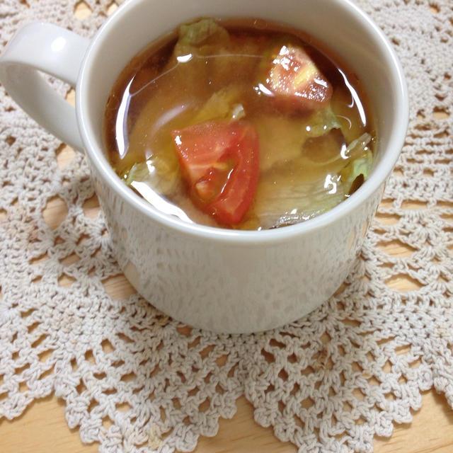トマトレタス味噌汁