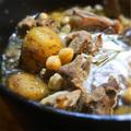 ラムとひよこ豆のレモングラス煮込、ヨーグルト添え