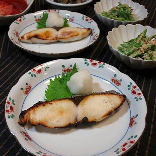 茄子と生姜の味噌炒めとモロッコいんげんのツナマヨ和え