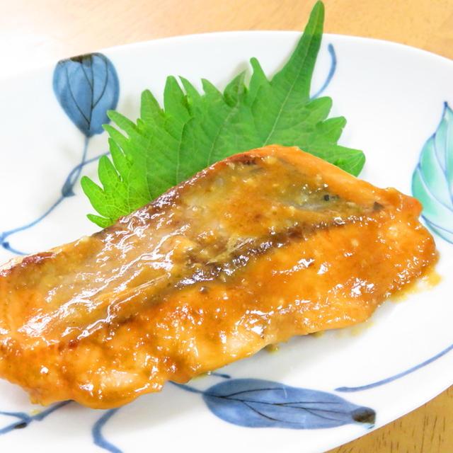 簡単和総菜☆鮭の味噌にんにく焼き