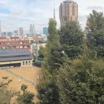 有栖川食堂 東京タワーが見える場所 広尾にある東京都立図書館内の食堂で大分県宇佐の唐揚げ定食