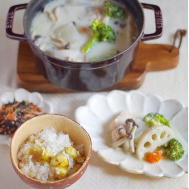 秋の味覚♡栗ごはんの、おべんとう。(炊飯器で炊くレシピ)