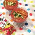 トマト缶で簡単ガスパチョ〜ヤベイビーver