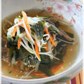 もやしと若布の冷製スープ