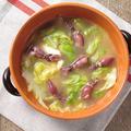 ホタルイカと春キャベツのアンチョビバター煮