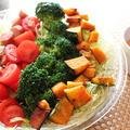 なんちゃってコブサラダな、ゴロゴロ野菜サラダのオーロラソースかけヽ(^o^)丿