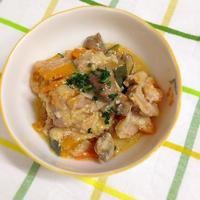 鶏肉とブラウンマッシュルームのミルク煮(ビール酵母で旨み&栄養強化)