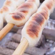炭火で棒まきパン!