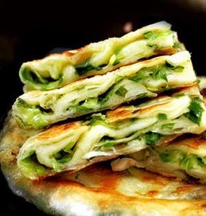 蔥油餅│中華風ネギ焼き