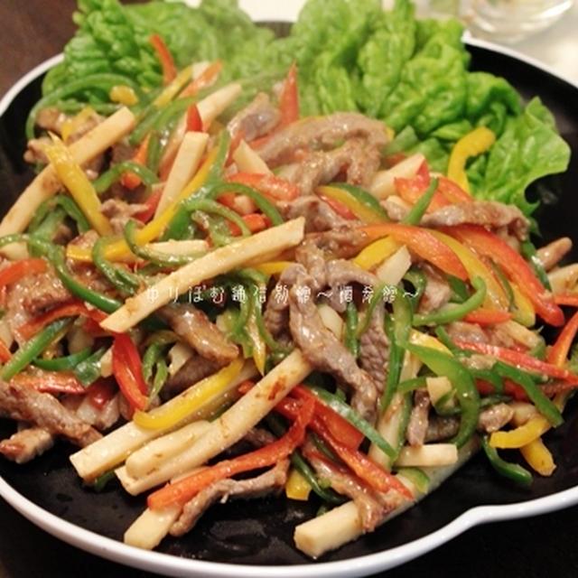 杏仁豆腐が食べたくて…青椒肉絲の夜。