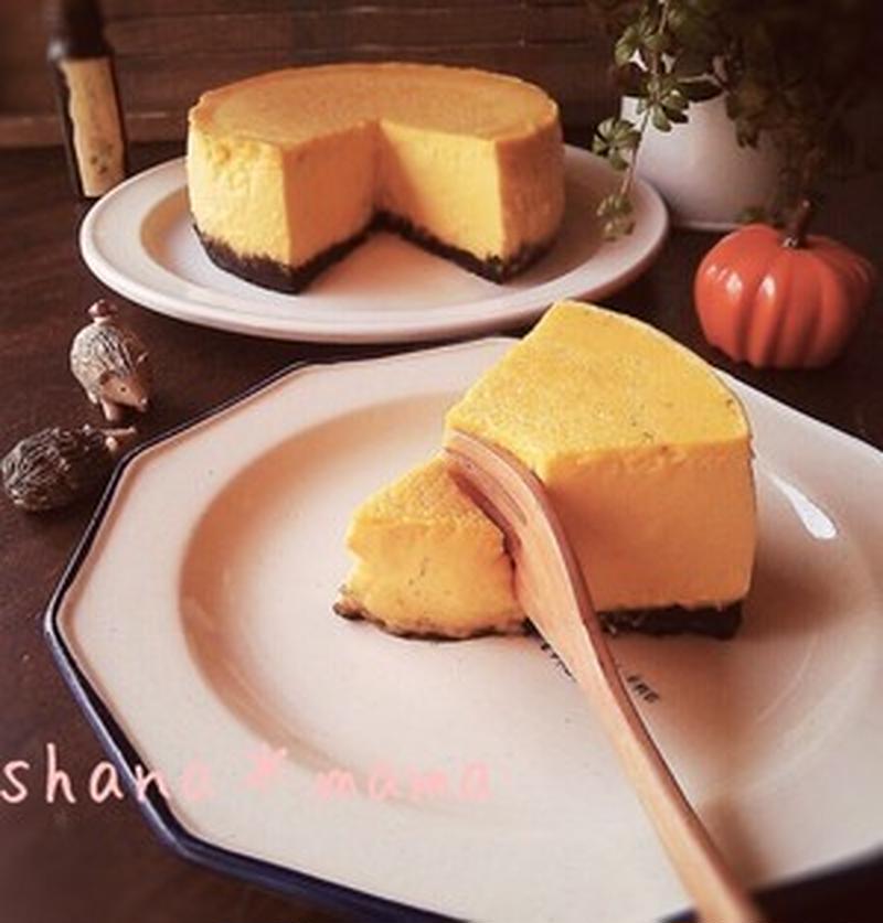 しっとり濃厚♪ハロウィンに作りたい「かぼちゃのチーズケーキ」