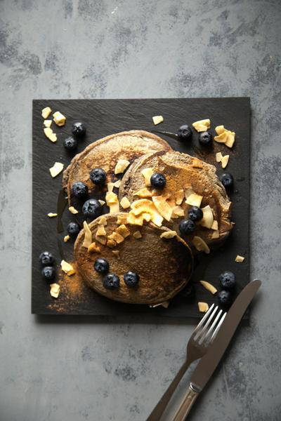 037 ブルーベリーとココナッツのパンケーキ