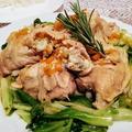 コラーゲンたっぷりの作り置き料理!鶏のもも肉の猟師風!