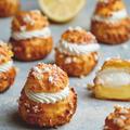 レモンのお菓子|レモンカスタードとバニラクリームのダブルシュークリーム