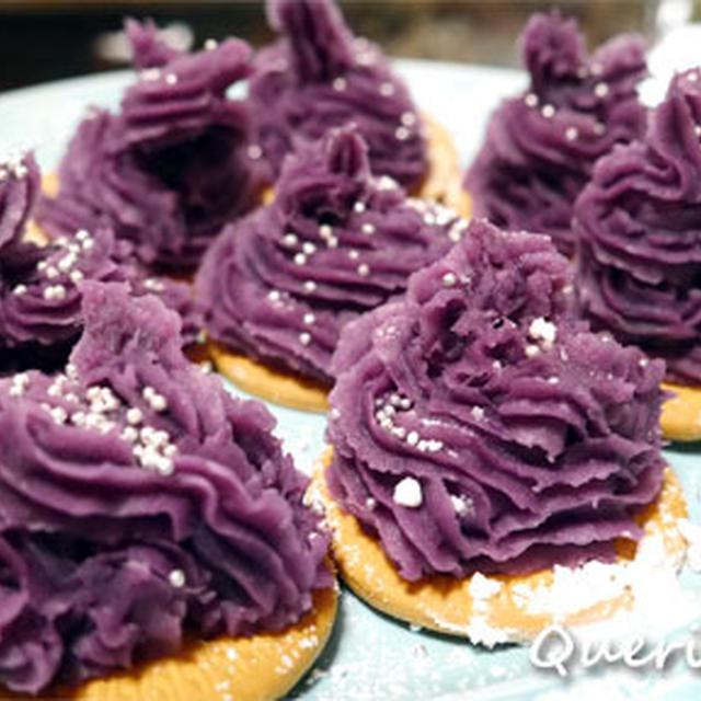 雛祭りは親子で♪紫芋のプチモンブラン