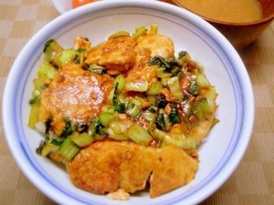 あん肝丼【微妙に terrible】、納豆ナメコ汁