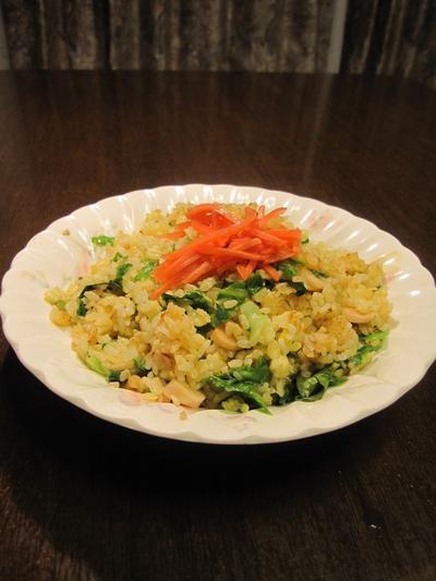炒飯の作り方(レタス炒飯)