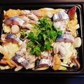 生姜でさっぱりホットプレートde牡蠣と鰆の土手鍋風♪☆♪☆♪ by みなづきさん