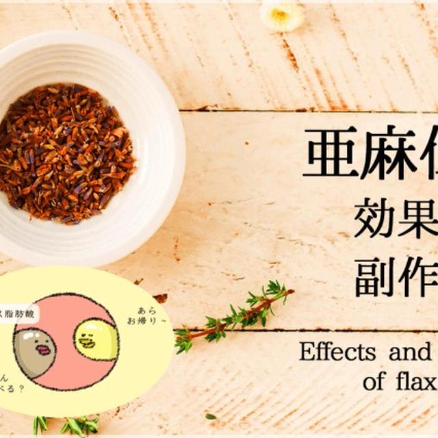 イラストで分かる亜麻仁油のダイエット効果と副作用