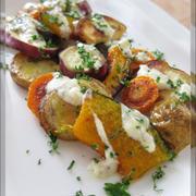 焼き野菜のチーズマスタードサラダ