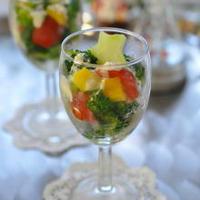 クリスマスに♫簡単&お洒落★ブロッコリーとミニトマトのサラダ