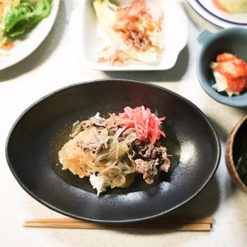 【 紅生姜たっぷり牛丼 】