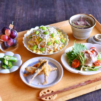 てきとう散らし寿司のお昼ごはんと ✽ 雨乞い