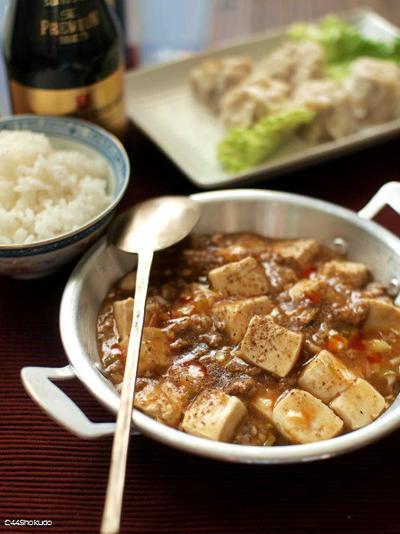 家族と食べる家庭料理の、麻婆豆腐。
