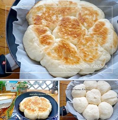 簡単♪発酵から焼きまでフライパンで『ふっくらミルクちぎりパン』