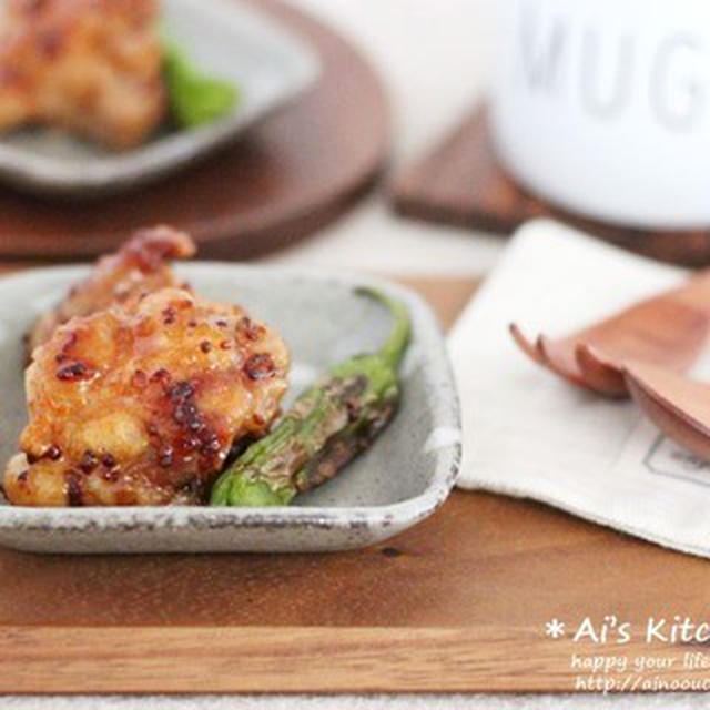 揚げ焼きでちょこっとヘルシー気分*鶏もものハニーマスタードグリル野菜添え*