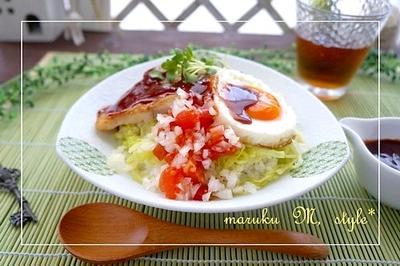 タラのロコモコ~簡単赤ワインソース♪グルテンフリーソルガムきびレシピ